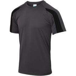 textil Herre T-shirts m. korte ærmer Just Cool JC003 Charcoal/Jet Black