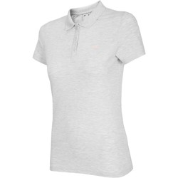 textil Dame T-shirts m. korte ærmer 4F NOSH4 TSD007 Biały Melanż Hvid,Grå