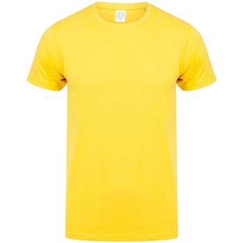 textil Herre T-shirts m. korte ærmer Skinni Fit SF121 Yellow