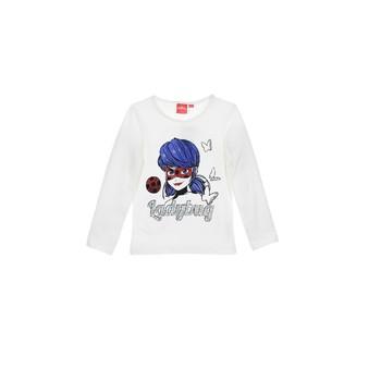 textil Pige Langærmede T-shirts TEAM HEROES  MIRACULOUS LADYBUG Hvid