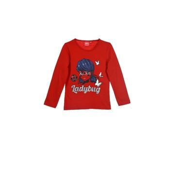 textil Pige Langærmede T-shirts TEAM HEROES  MIRACULOUS LADYBUG Rød