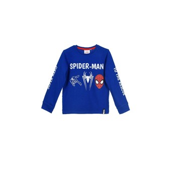 textil Dreng Sweatshirts TEAM HEROES  SPIDERMAN  TSHIRT ML Blå