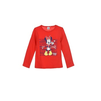 textil Pige Langærmede T-shirts TEAM HEROES  MINNIE Rød