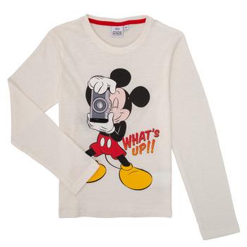 textil Dreng Langærmede T-shirts TEAM HEROES  MICKEY Hvid
