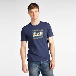 textil Herre T-shirts m. korte ærmer Lee T-shirt  Camo Package Dark Navy bleu marine/jaune/blanc