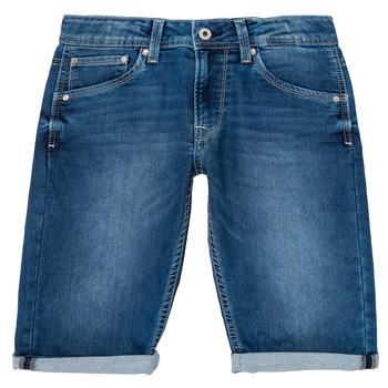 textil Dreng Shorts Pepe jeans CASHED SHORT Blå