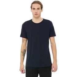 textil Herre T-shirts m. korte ærmer Bella + Canvas CA3413 Solid Navy Triblend