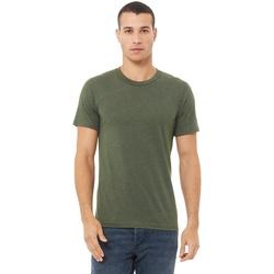textil Herre T-shirts m. korte ærmer Bella + Canvas CA3413 Military Green Triblend