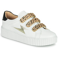 Sko Dame Lave sneakers Vanessa Wu BASKETS À SCRATCHS ANIMALIER Hvid / Leopard