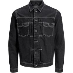 textil Herre Cowboyjakker Jack & Jones 12169080 JJIWILLIAM JJJACKET AM 985 BLACK DENIM Negro