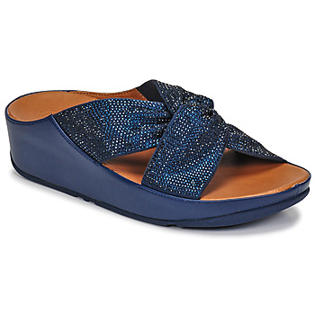 Sko Dame Sandaler FitFlop TWISS CRYSTAL SLIDE Blå
