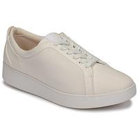 Sko Dame Lave sneakers FitFlop RALLY DENIM Hvid