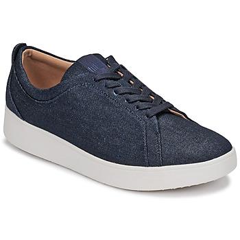 Sko Dame Lave sneakers FitFlop RALLY DENIM Blå