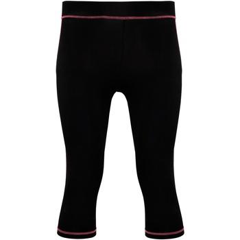 textil Dame Leggings Tridri Tri Dri Black/ Hot Pink