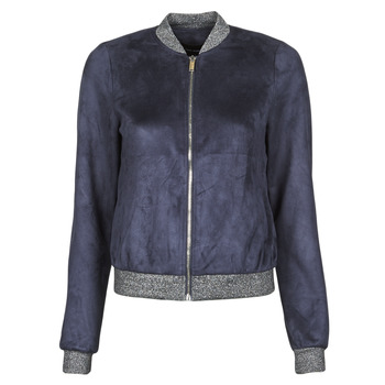 textil Dame Jakker i læder / imiteret læder Vero Moda VMSUMMERELISA Marineblå