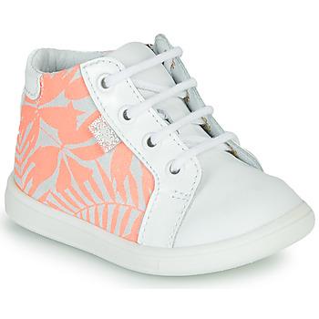 Sko Pige Høje sneakers GBB FAMIA Hvid / Pink