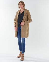 textil Dame Frakker Only ONLCARRIE BONDED Kamel
