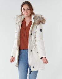 textil Dame Parkaer Only ONLIRIS Hvid