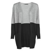textil Dame Veste / Cardigans Only ONLQUEEN Sort / Grå