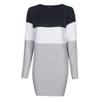 textil Dame Korte kjoler Only ONLLILLO Marineblå / Hvid / Grå
