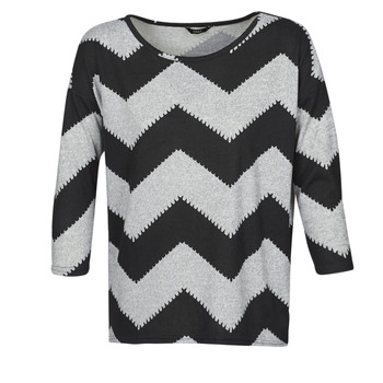 textil Dame Toppe / Bluser Only ONLELCOS Grå / Sort