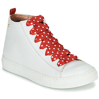 Sko Pige Høje sneakers Little Mary SASHA (VE014) Hvid / Rød