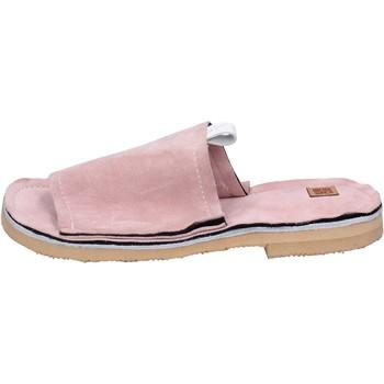 Sko Dame Tøfler Moma sandali camoscio Rosa