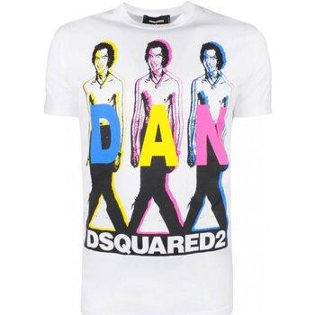 textil Herre T-shirts m. korte ærmer Dsquared S74GD0498 Hvid
