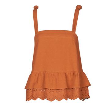textil Dame Toppe / Bluser Betty London OULINE Rustrød