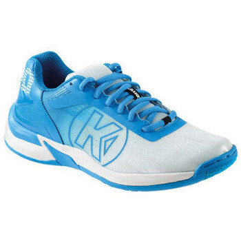 Sko Dame Multisportsko Kempa Chaussures femme  Attack 2.0 blanc/bleu