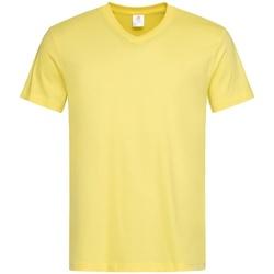 textil Herre T-shirts m. korte ærmer Stedman  Yellow