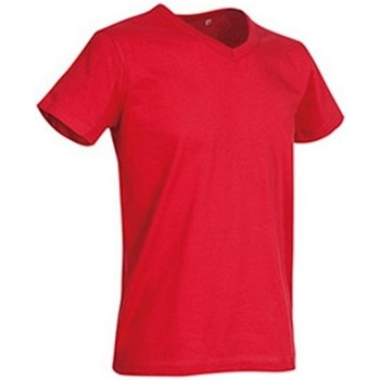 textil Herre T-shirts m. korte ærmer Stedman Stars  Crimson Red