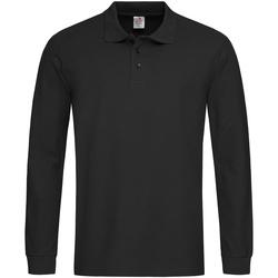 textil Herre Polo-t-shirts m. lange ærmer Stedman  Black Opal