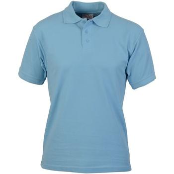 textil Herre Polo-t-shirts m. korte ærmer Absolute Apparel  Light Blue