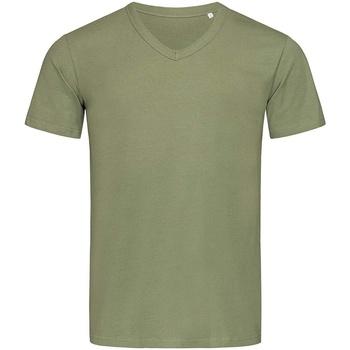 textil Herre T-shirts m. korte ærmer Stedman Stars  Military Green