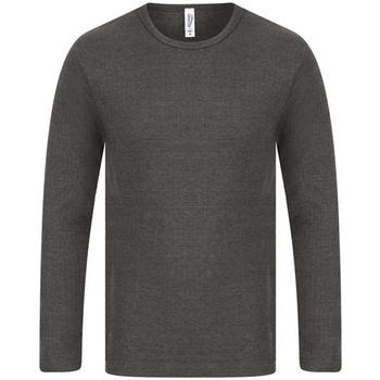 textil Herre Langærmede T-shirts Absolute Apparel  Charcoal