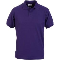 textil Herre Polo-t-shirts m. korte ærmer Absolute Apparel  Purple