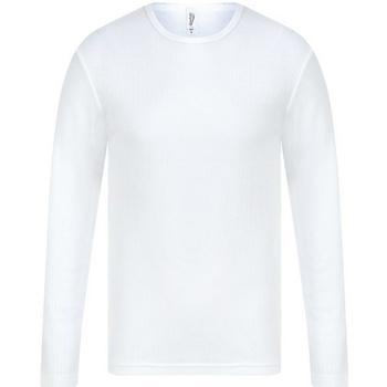 textil Herre Langærmede T-shirts Absolute Apparel  White
