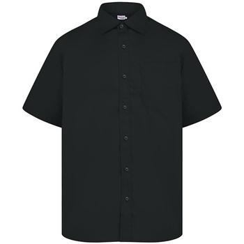 textil Herre Skjorter m. korte ærmer Absolute Apparel  Black