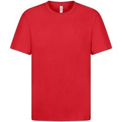 textil Herre T-shirts m. korte ærmer Casual Classics  Red