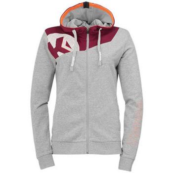 textil Dame Sweatshirts Kempa Veste femme  Core 2.0 gris foncé chiné/rouge