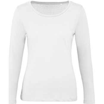 textil Dame Langærmede T-shirts B And C TW071 White