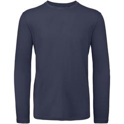 textil Herre Langærmede T-shirts B And C TM070 Urban Navy