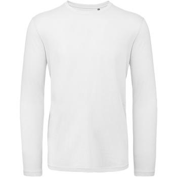 textil Herre Langærmede T-shirts B And C TM070 White