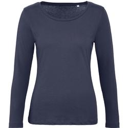 textil Dame Langærmede T-shirts B And C TW071 Urban Navy