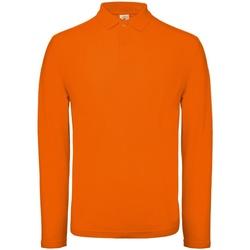 textil Herre Polo-t-shirts m. lange ærmer B And C PUI12 Bright Orange