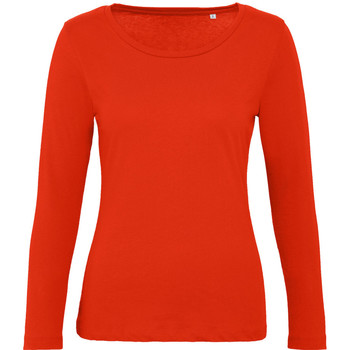 textil Dame Langærmede T-shirts B And C TW071 Fire Red