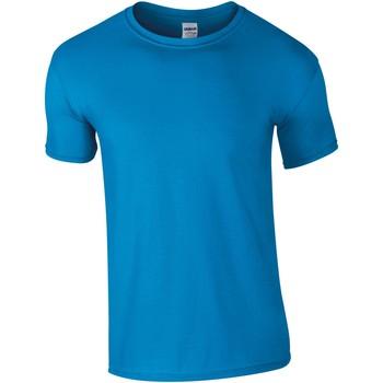 textil Herre T-shirts m. korte ærmer Gildan Soft-Style Sapphire
