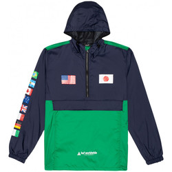 textil Herre Vindjakker Huf Jacket flags anorak Blå