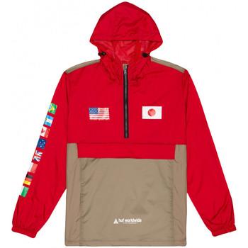 textil Herre Vindjakker Huf Jacket flags anorak Rød